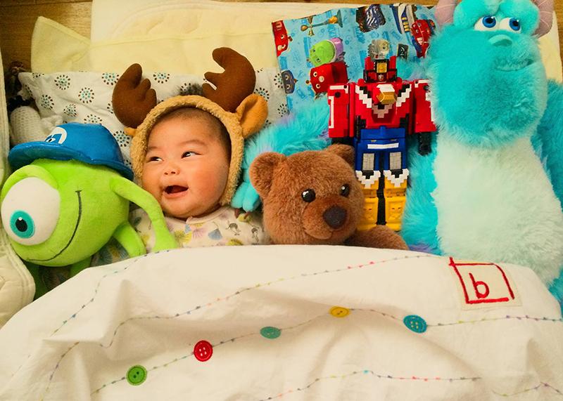 お人形と赤ちゃん