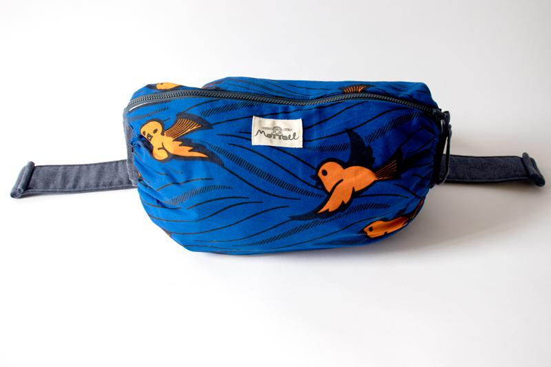 moffou抱っこひもカバー(BIRD(BLUE-L)